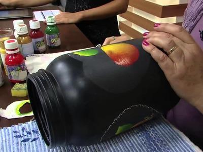 Mulher.com 24.01.2014 Rosa Rebelo - Jateado sobre plástico