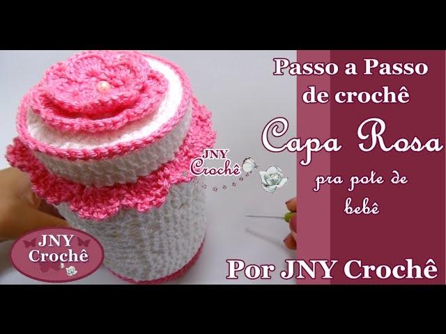 PAP Capa de crochê para pote de bebê por JNY Crochê