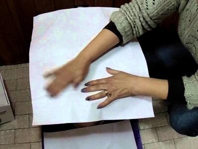 Passo a Passo Arteliê Bia Abdalla - Como fazer o molde para conjunto de banheiro