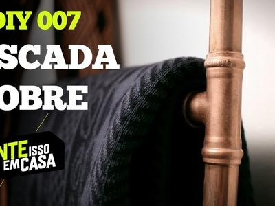 PORTA TOALHAS ESCADA de COBRE #DIY | Tente Isso em Casa