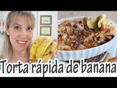 TORTA RÁPIDA DE BANANA I Receitas e Temperos - Panelaterapia
