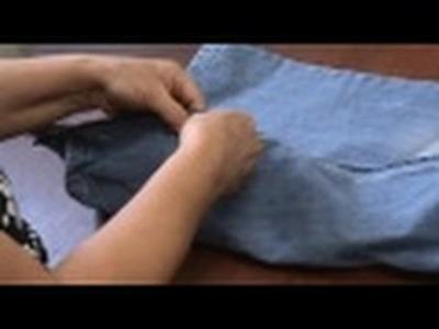 Video aula Ajustar a calça jeans ( parte 5)