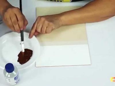Acrilex - Técnicas - Como utilizar o Verniz Craquelê