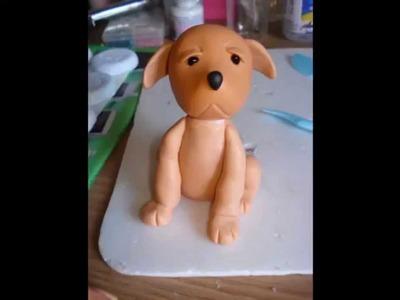 Cachorro em biscuit passo a passo