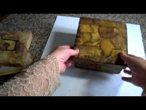 Caixa decorada com filtro de café