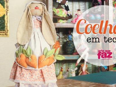Coelha em tecido (Mabel)