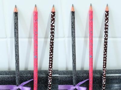 Como decorar lápis, faça você mesmo.