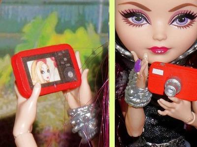 Como fazer Câmera Fotográfica para bonecas Barbie e outras - miniatura