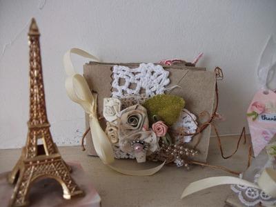 Como fazer mini album reciclagem rolinhos de papel higienico