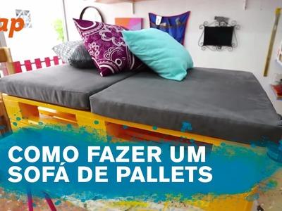 Como fazer um Sofá de Pallets - ZAP