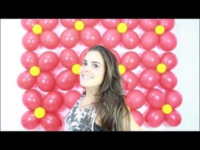 Como fazer uma parede de balões simples