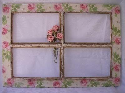 DIY: Faça voce mesma, vintage window