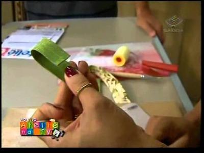 Lê Arts Artesanatos - Carteira sanfonada - Ateliê na TV - 17.09