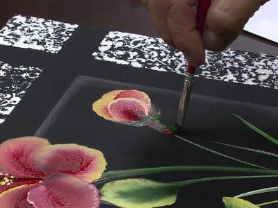 Mulher.com 10.07.2015 Ana Maria Guimarães - Pintura em tela hibisco Parte 2.2