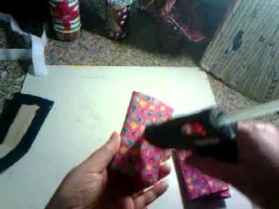 Porta cartão feito de rolinho de papel higiênico