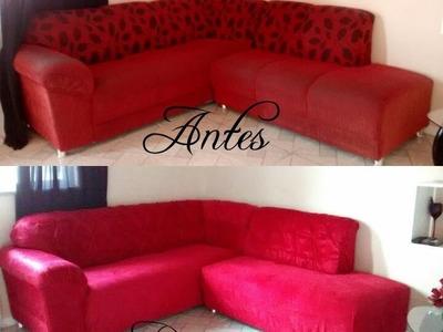 Reformando meu  Sofá e Ficou de cara Nova  - DIY