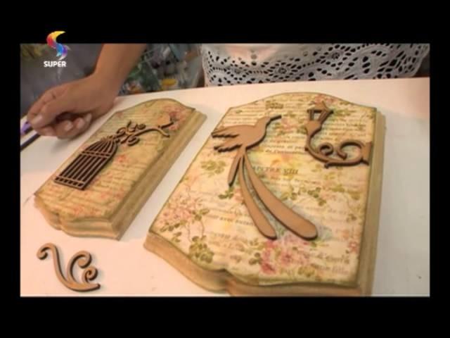 SEMPRE FELIZ - Aprenda a fazer um porta-chaves vintage