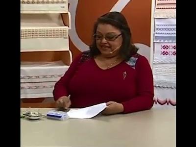 Toalha de Lavabo em Ponto Reto com Falso Crivo com Leila Jacob | Vitrine do Artesanato na TV
