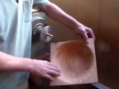 Torneando vaso de madeira p\ orquideas (Circumventing wooden vase w \ orchids )