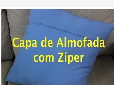Tutorial de Costura: Capa de Almofada com Zíper