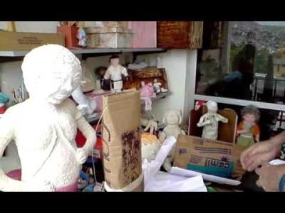 Artesanato em Papel Mache (Handcrafts) - Estrutura das Bonecas