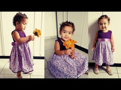 Como costurar um vestido infantil [ Tutorial]