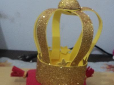 Como fazer coroa eva 3d