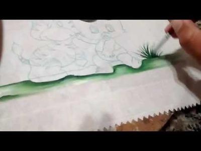 Dicas com Artes da Ju Baby, pintura em fraldas