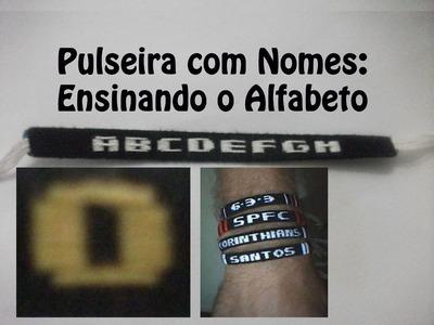 DIY #18 Como fazer Pulseira com nome - Letra O