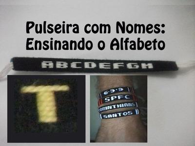 DIY #28 Como fazer Pulseira com nome - Letra T