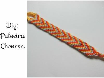 DIY: Friendship Bracelet (pulseira da amizade) modelo em V