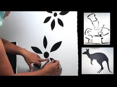 Faça seu próprio adesivo de parede com papel contact