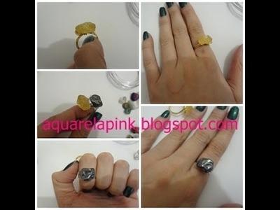Faça você mesma : Anéis de Pedras Brasileiras