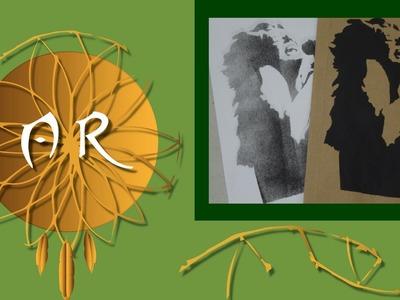 Janis Joplin - como fazer stencil