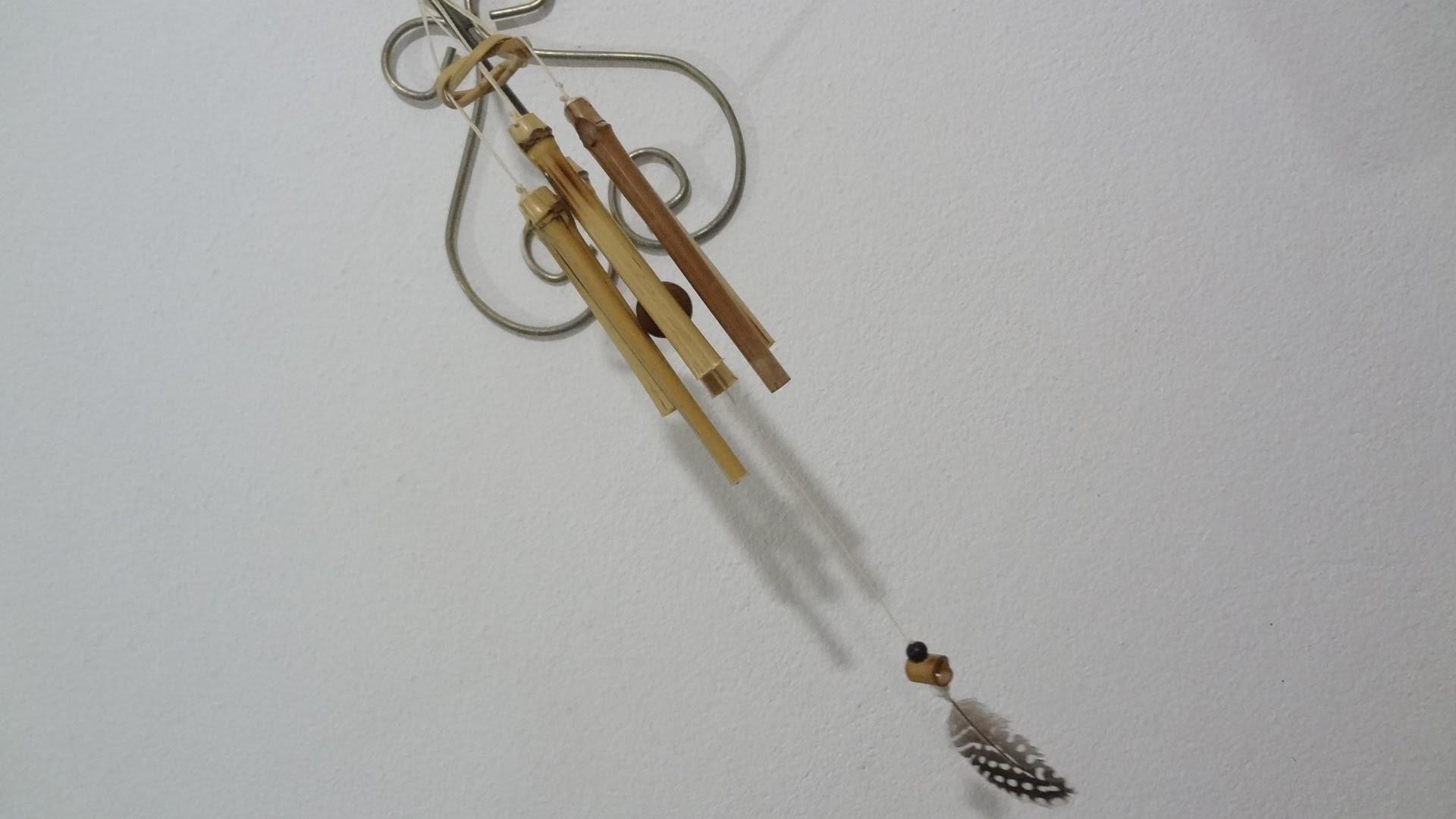 Mensageiro do vento com vara de pescar - como fazer