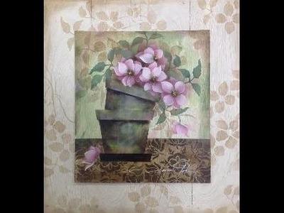 Stencil OPA - 25.01.16 - Mayumi Takushi - Vasos com Flores do Campo
