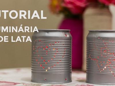Tutorial: Luminária de lata