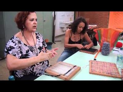 Vídeo 3   Tear de Prego   Arte em Fibras