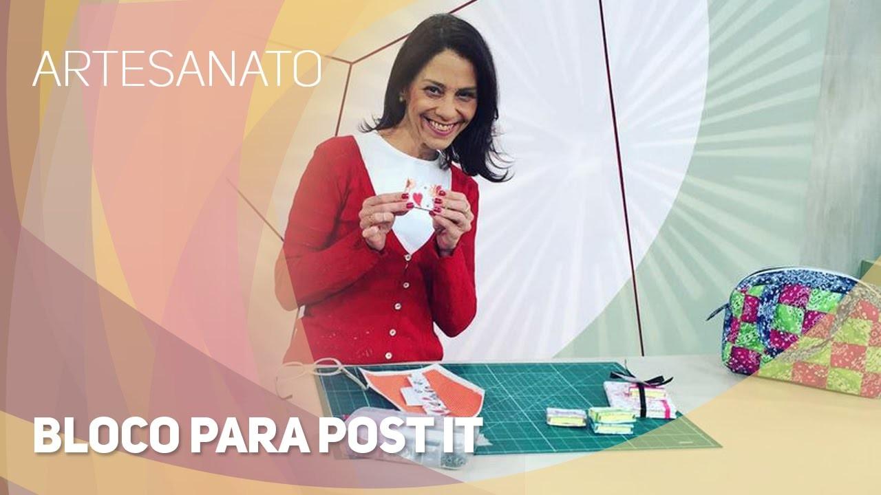 Artesanato - Bloco para Post It (29.09.2015)