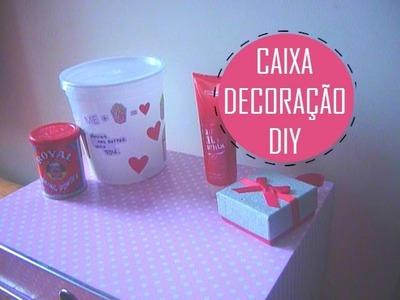 Como fazer uma caixinha para guardar as coisas.decoração | DIY :)