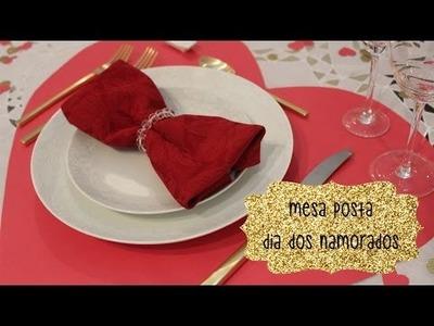 Dia dos Namorados - Mesa Posta - Sousplat de Coração - Jantar Romântico - DIY
