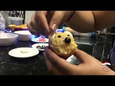 DIY Christmas cupcakes. faça você mesmo cupcakes natalinos