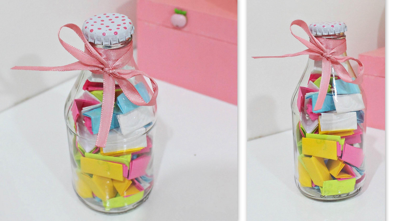 DIY.Faça você mesmo: Garrafinha Positiva (Decoração) ♥