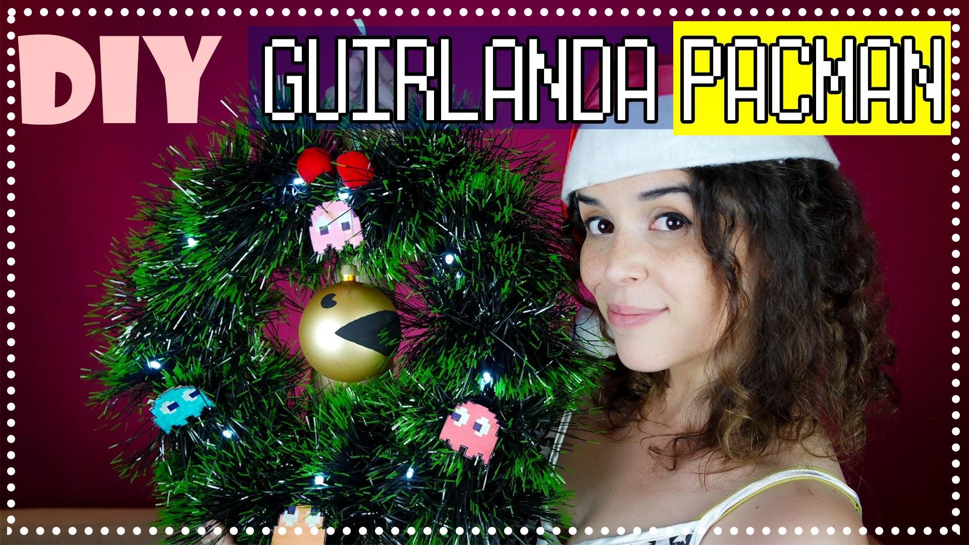 DIY Guirlanda Pacman - Decor de Natal | Keityland