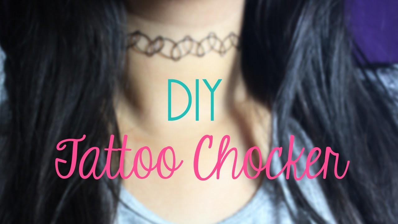 DIY Tattoo Chocker
