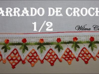 Barrado de Crochê Para Toalhas e Panos de Prato (Nº01) - Parte 1.2
