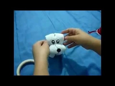 Cachorrinho de toalha de mão