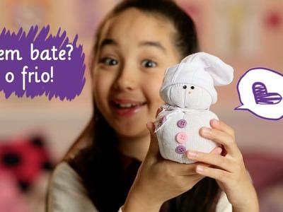 Como fazer bonequinho de neve com a Nina ❤ Mundo da Menina