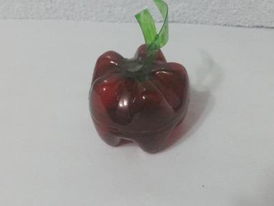 Como fazer maçã com garrafa pet by Vivian Balaban