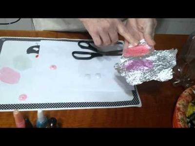 Como fazer olho caseiro para bonecos com reciclagem de garrafa pet - Ivone Müller